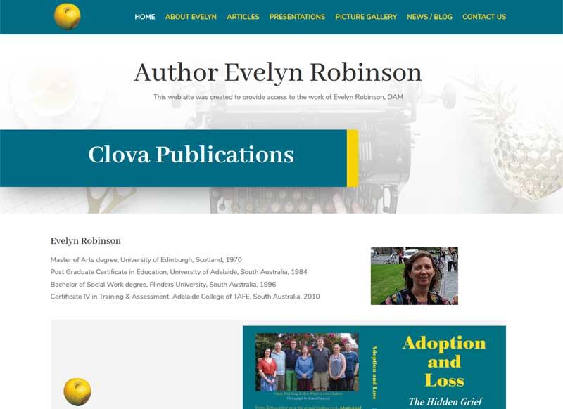 Website for Author Evelyn Robinson