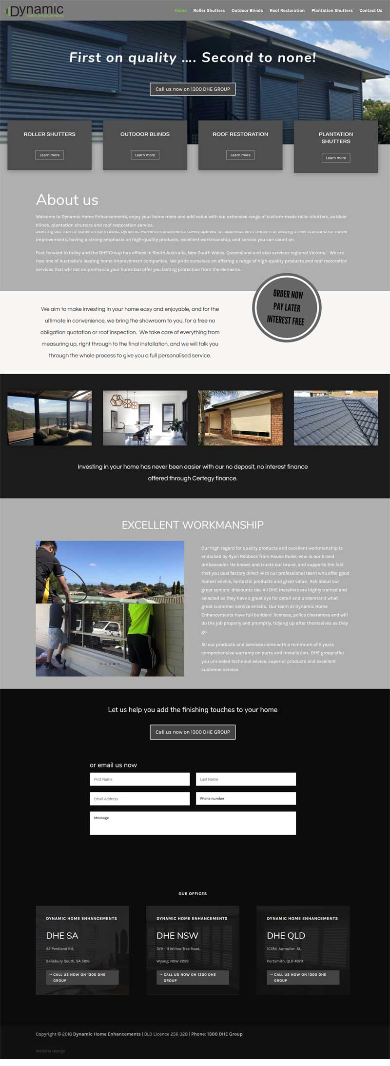 dhegroup website design portfolio adelaide