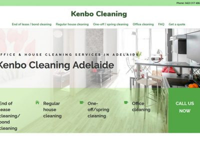 Website design for Kenbo Cleaners