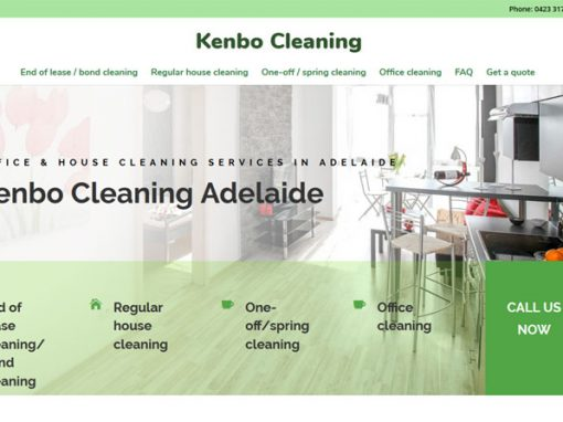 Website design for Kenbo Cleaners