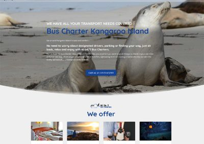 Website design for KI 24/7 Bus Charters