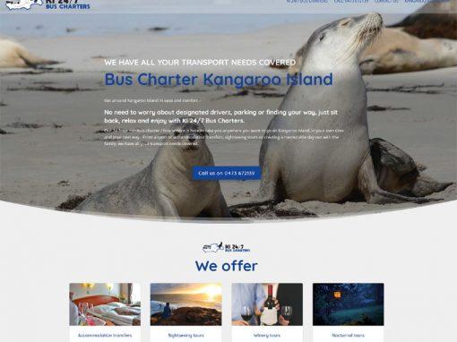 Website design for KI 24/7 Bus Charters