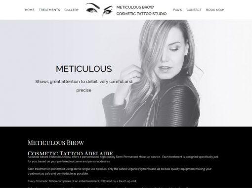 Website Design for Meticulous Brow