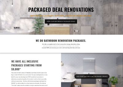 Website design for package deal bathrooms
