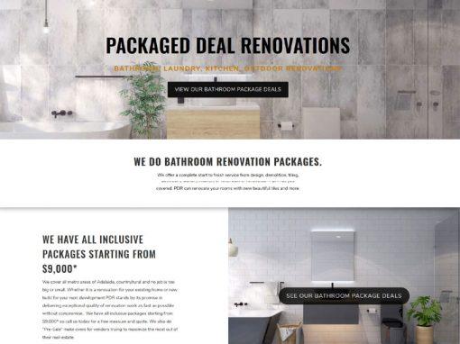 Website design for package deal bathrooms