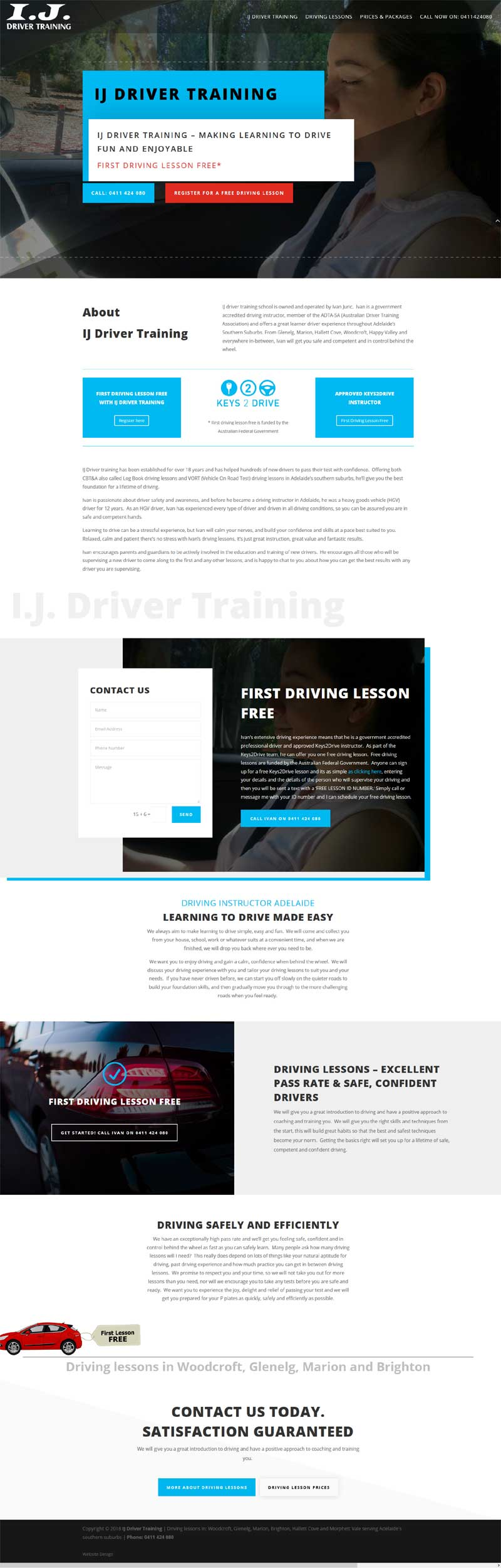 small website business adelaide driving lessons