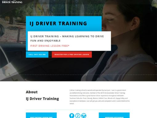 Small business website for driving lessons business