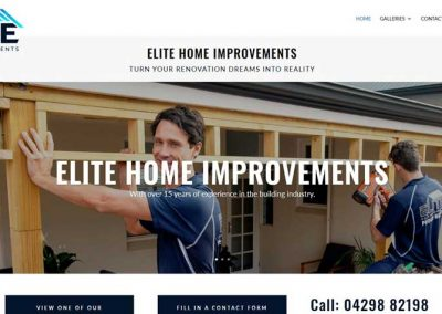 Website for Elite Home Improvements