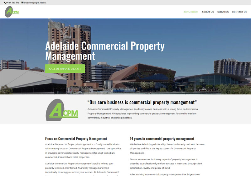 website design for adelaide commercial property management