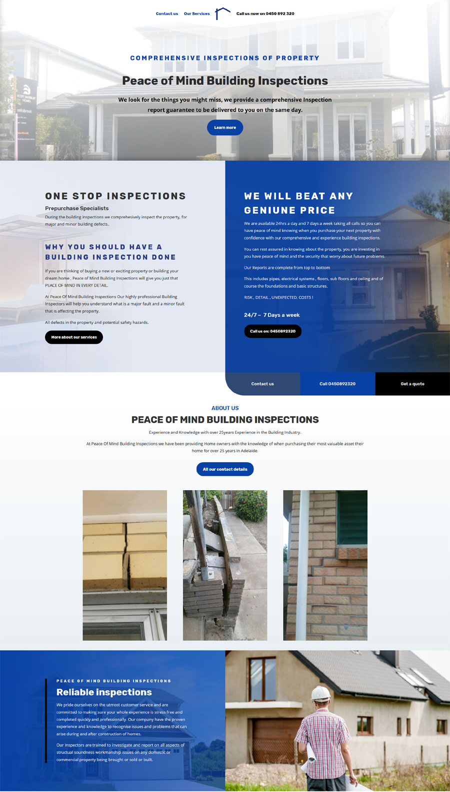 building inspections adelaide website design