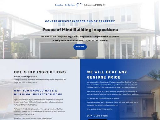 Building inspections in Adelaide – website design