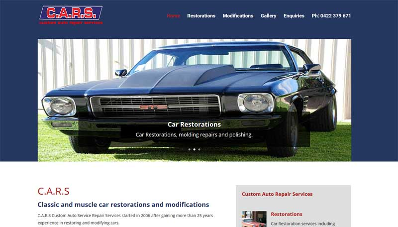 website design for cars lonsdale adelaide