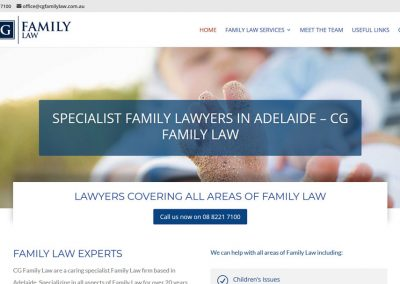 Website design for CG Family Law in Adelaide
