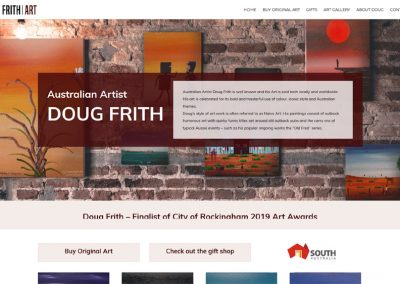 Website for Australian artist Doug Frith
