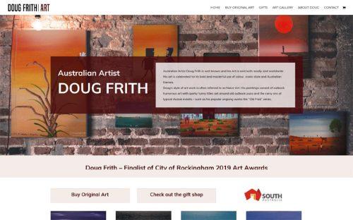 website design for australian artist ecommerce shop