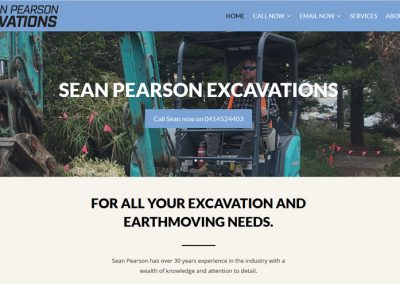 Website for Sean Pearson Excavation Victor Harbor