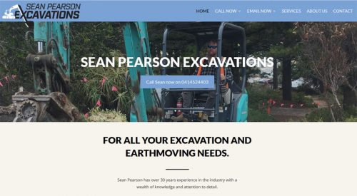 website design victor harbor excavation sean pearson