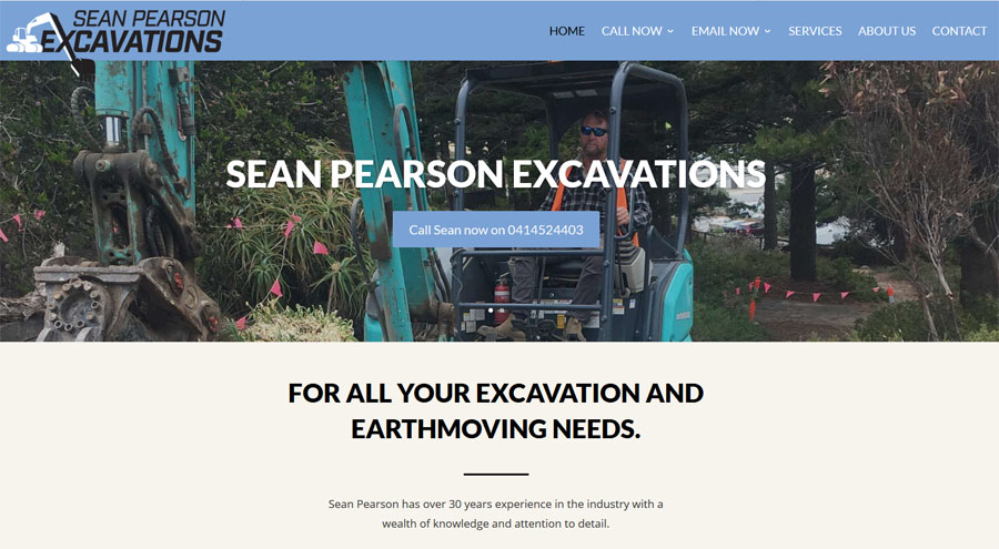 website design victor harbor excavation sean pearson