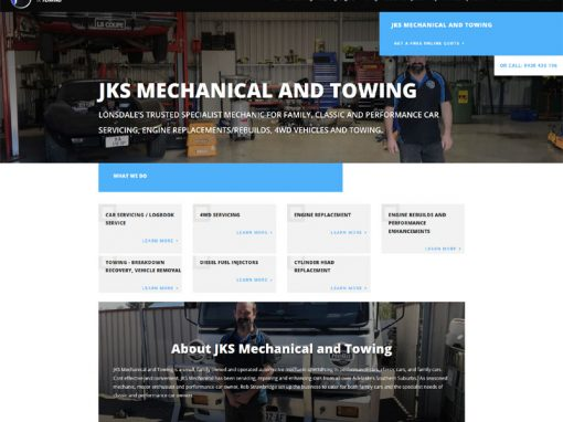 Website for JKS Mechanical