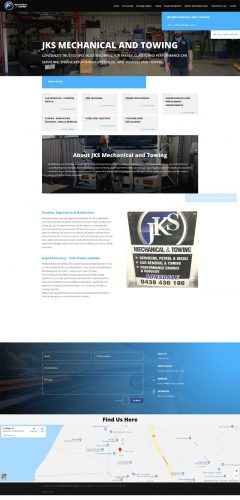 website design for jks mechanical and towing lonsdale