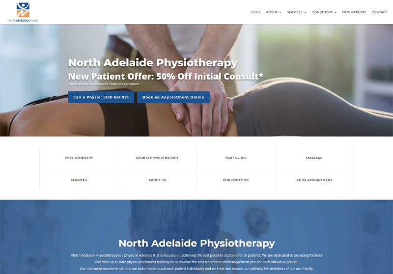 website design for northphysiotherapy