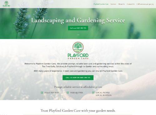 playford garden care website design adelaide