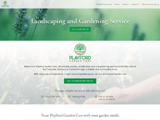 Website design for Playford Garden Care in Adelaide