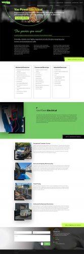 website design vas power electrical services adelaide
