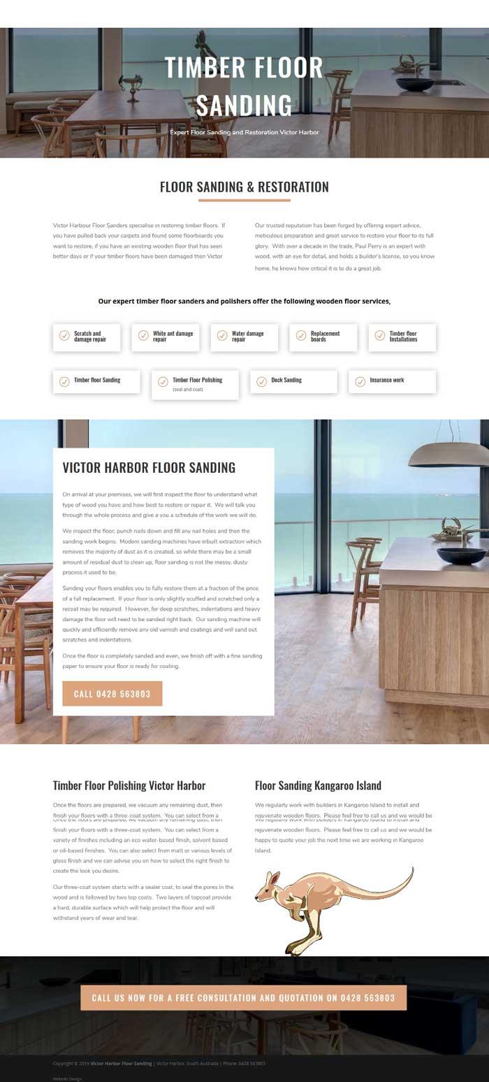 website design for flooring business in Victor Harbor