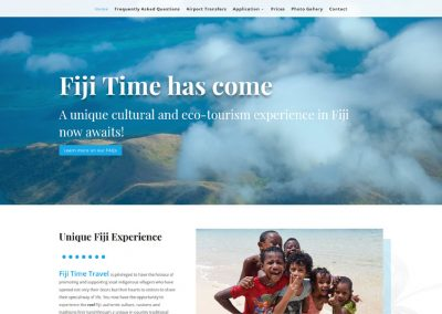 Website design for Fiji Time Travel