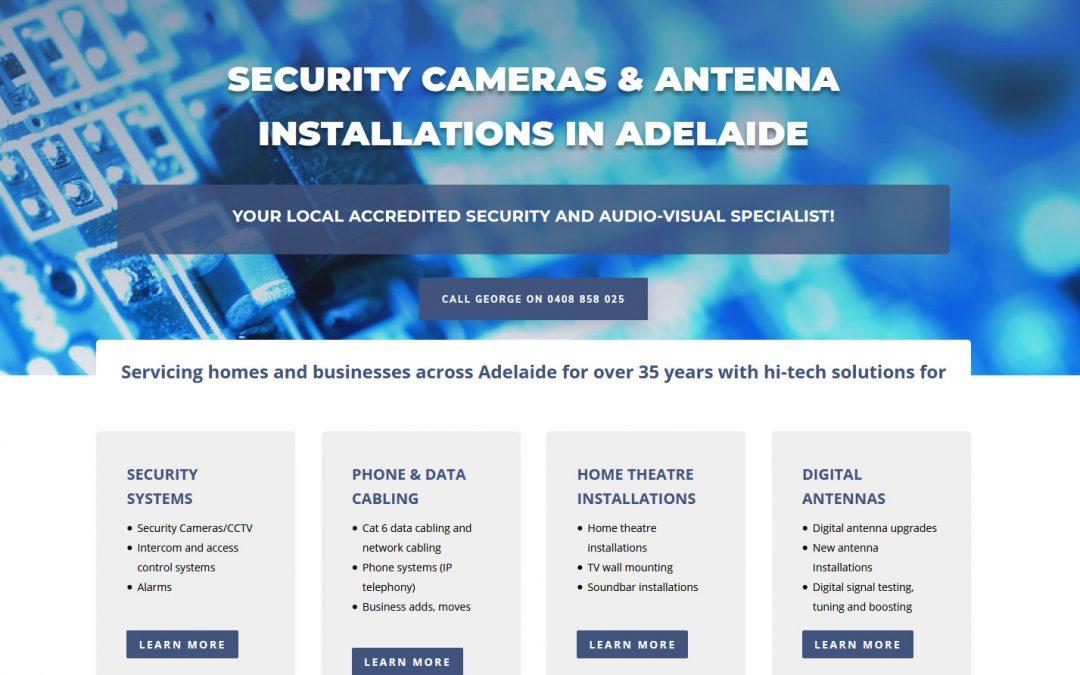 Website for Metropolitan Antennas Adelaide