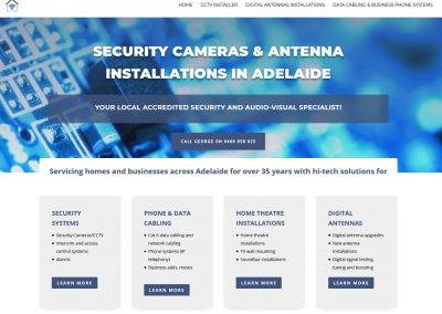 Website for Metropolitan Antennas Adelaide
