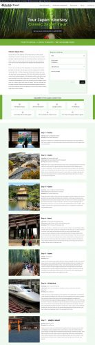 redesign website bushido travel