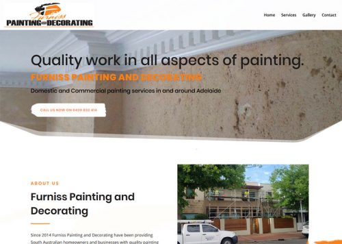 website design painting business adelaide