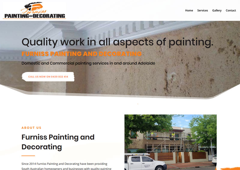 Website design for Furniss Painting and Decorating