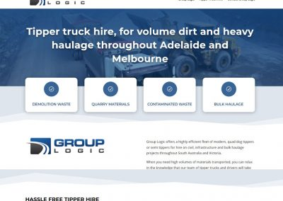 Website design for Group Logic in Adelaide