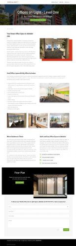 website design for offices on light in adelaide