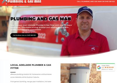 Website design for plumber in Adelaide