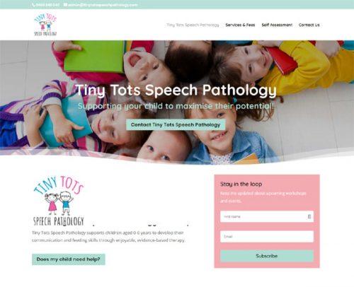 website designer for a speech pathology website
