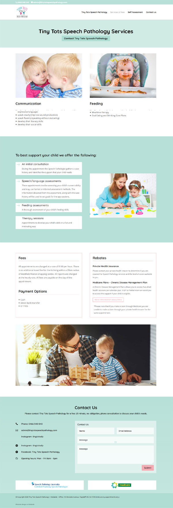 website designer for a speech pathology website