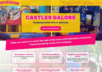 Website design for jumping castle hire