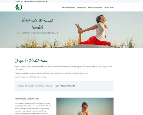website design adelaide natural health