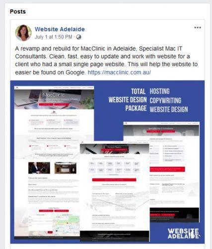 website adelaide links from social media