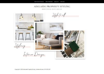 Website design for Adelaide Property Styling