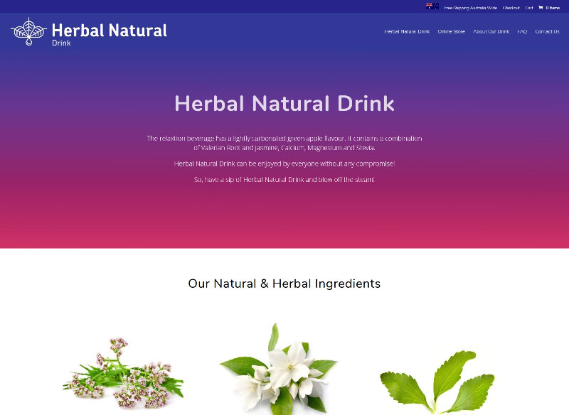 Website build for Herbal Natural Drink