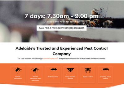 Website for HomeMasters Pest Control