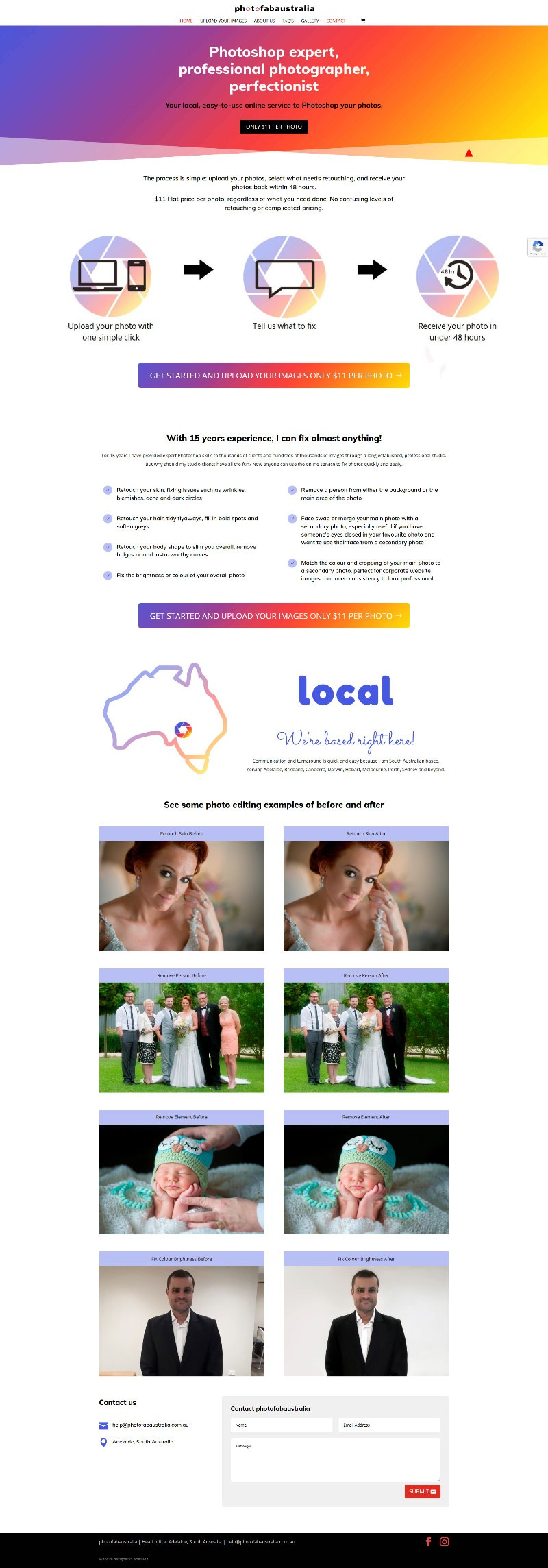 website design in adelaide for photo editing business