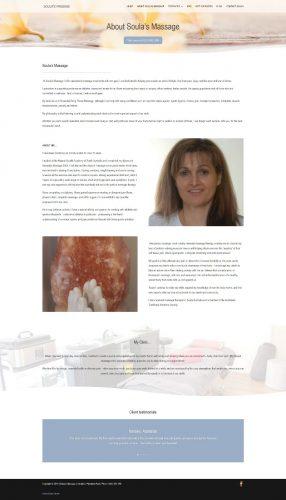 Massage Therapist in Adelaide Website design