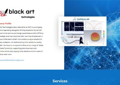 Small single page website design package for Black Art Technologies
