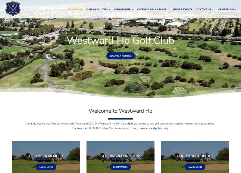 Website design for Westward Ho Golf Club